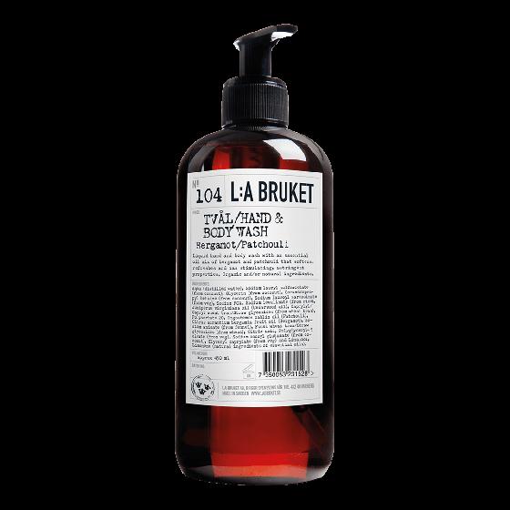 L:A BRUKET Bergamot & Patchouli Hand and Body Wash 450ml