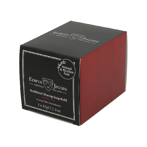 Edwin Jagger Sandalwood Traditional Shaving Soap 65g 3 Pack