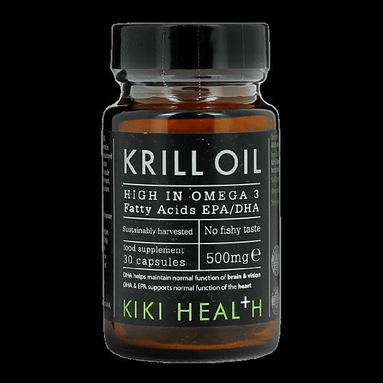 KIKI HEALTH Krill Oil Food Supplement (30 Capsules) 500mg