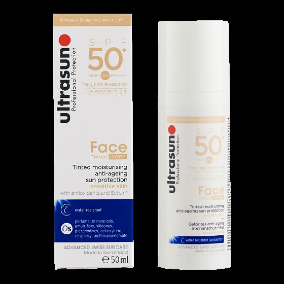 Ultrasun Tinted Ivory Moisturiser Anti-Ageing SPF 50+ 50ml
