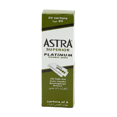 Astra Superior Platinum Double Edge Razor Blades (100 Blades)