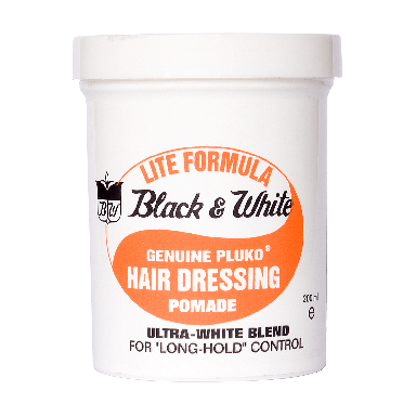 Black and White Wax Lite Genuine Pluko Pomade 200ml