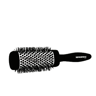 Denman Squargonomics Barrel Brush Black 43mm
