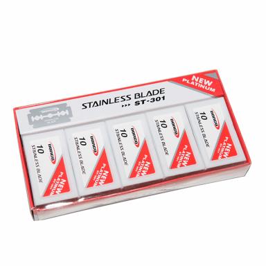 Dorco Platinum Stainless Steel DE Razor Blades ST301 100 Blades