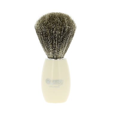 Dovo Pure Badger Shaving Brush Ivory Acyllic 918 118