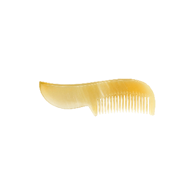 Dr. Dittmar Buffalo Horn Short Handle Beard and Moustache Comb (54-610)