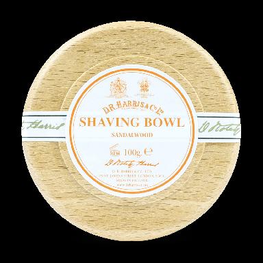 D R Harris Sandalwood Shaving Soap & Bowl Beech 100g