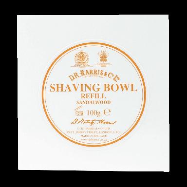 D R Harris Sandalwood Shaving Bowl Refill 100g