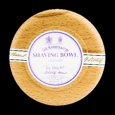 D R Harris Lavender Shaving Soap & Bowl Beech 100g