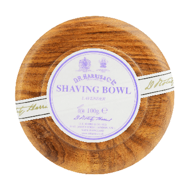 D R Harris Lavender Shaving Soap & Bowl Mahogany 100g