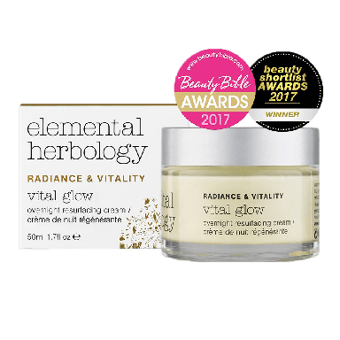 Elemental Herbology Radiance & Vitality Vital Glow Overnight Resurfacing Cream 50ml