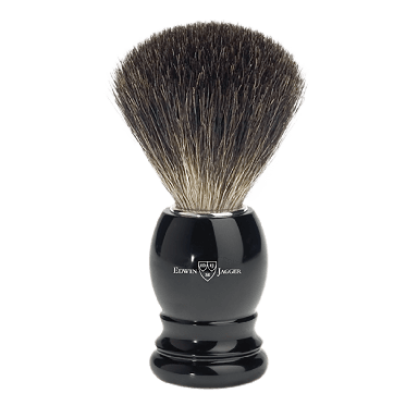 Edwin Jagger Black Imitation Ebony Best Badger Shaving Brush 81P26