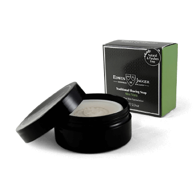 Edwin Jagger Traditional Shaving Soap Aloe Vera 65g