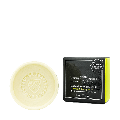 Edwin Jagger Traditional Shaving Soap Refill Limes & Pomegranate 65g