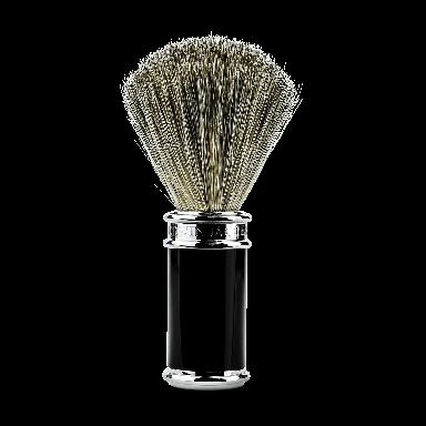 Edwin Jagger 81SB8611 Black & Chrome Pure Badger Shaving Brush