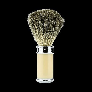 Edwin Jagger 81SB8711 Ivory & Chrome Pure Badger Shaving Brush