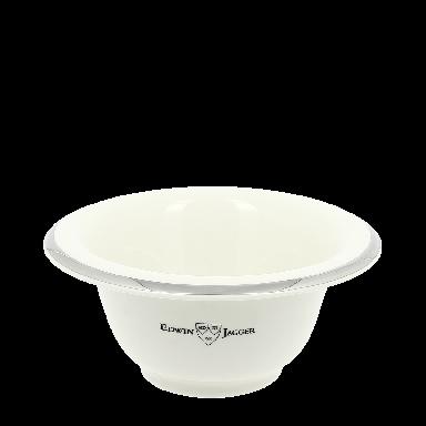Edwin Jagger Ivory Silver Rimmed Porcelain Shaving Bowl RN117