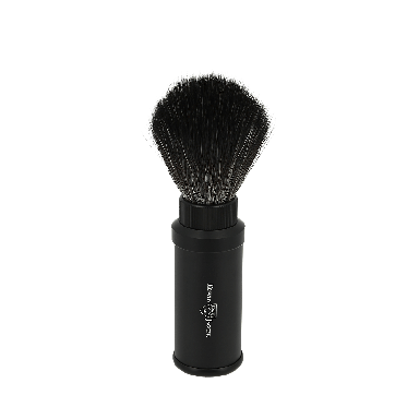 Edwin Jagger Black Synthethic Travel Shaving Brush