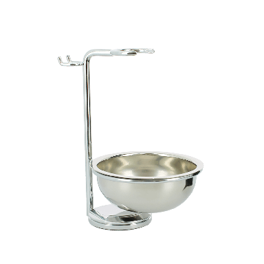 Edwin Jagger Chrome Plated Razor, Brush and Bowl Stand