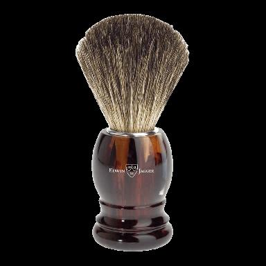 Edwin Jagger 81P23 Imitation Tortoiseshell Shaving Brush (Pure Badger)