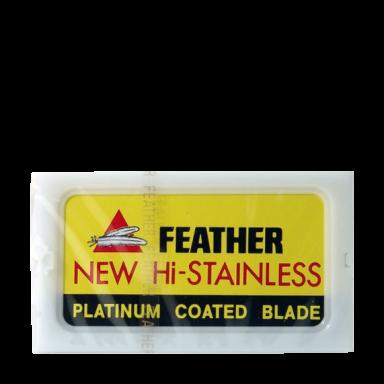 Feather Hi-Stainless Platinum Double Edge Razor Blades (10 Blades)
