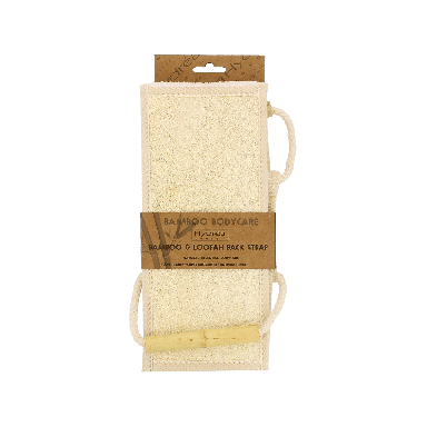 Hydrea Bamboo Body Care Bamboo & Loofah Back Strap