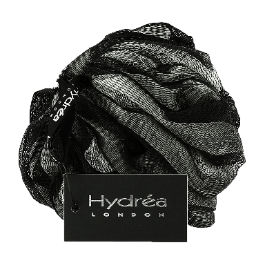 Hydrea London Luxury Soft Scrubber Black & Cream