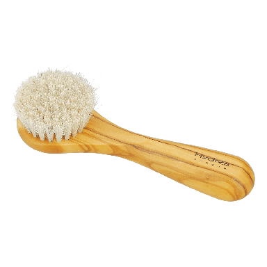 Hydrea Olive Wood Exfoliating Facial Brush With Pure Mane Bristles