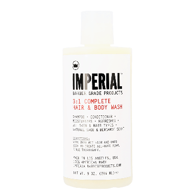 Imperial 3:1 Complete Hair and Body Wash 9oz / 265ml