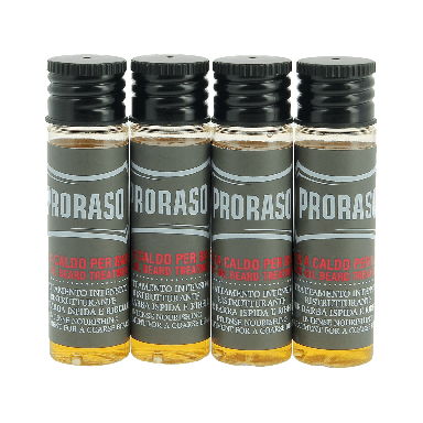 Proraso Italian Hot Oil Beard Treatment Wood and Spice 4 x 17ml