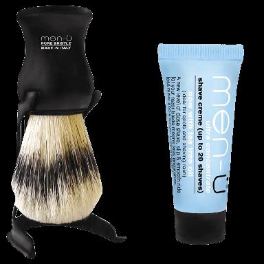 Men-U Barbiere Black Shaving Brush & Stand