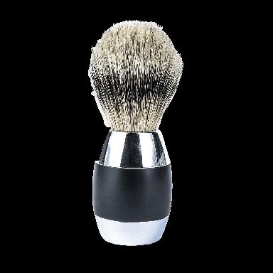 Merkur Chrome Plated Silvertip Badger Brush Black (90 120 011)