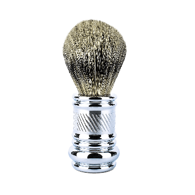 Merkur Chrome Plated Silvertip Badger Brush Barber Pole (90 138 001)