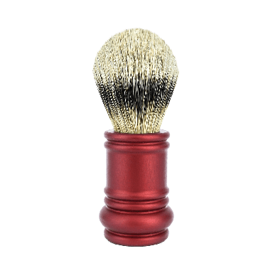 Merkur Matt Red Silver Tip Badger Brush (90 138 031)