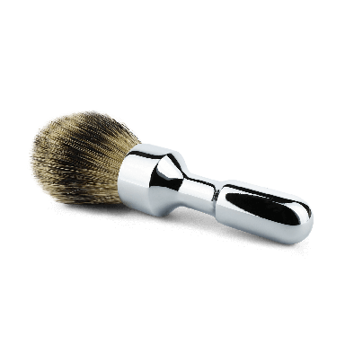 Merkur Futur Chrome Silvertip Badger Shaving Brush (90 1701 001)