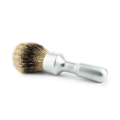 Merkur Futur Satin Chrome Silvertip Badger Shaving Brush (90 1700 002)
