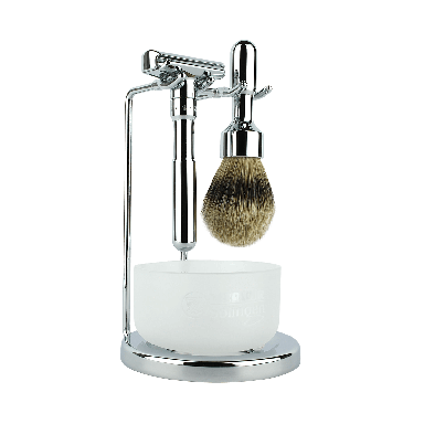 Merkur Futur Polished Chrome 4-Piece Shaving Set (90 751 001)