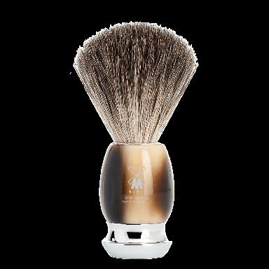 MUHLE 81M332 VIVO Brown Horn Resin Pure Badger Shaving Brush