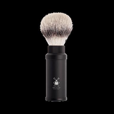MUHLE 31M536 Black Anodized Aluminium Silvertip Fibre Travel Shaving Brush