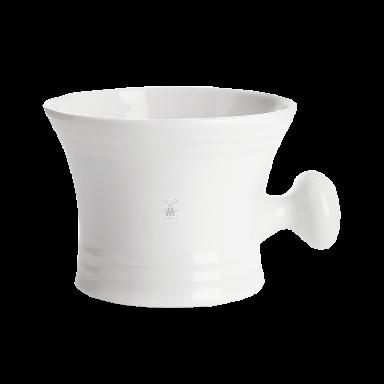 MUHLE RN4 White Porcelain Shaving Crucible With Handle