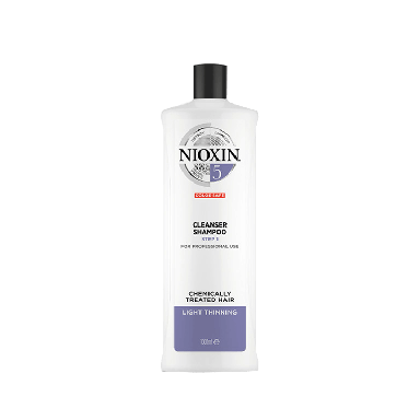 Nioxin System 5 Cleanser Shampoo for Chemically Treated Hair with Light Thinning 1000ml