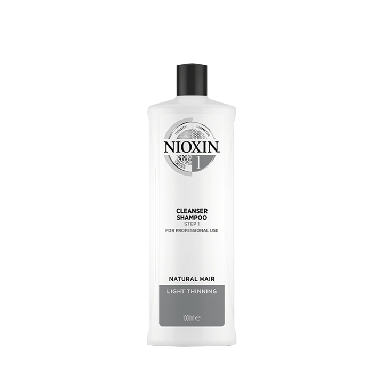 Nioxin System 1 Cleanser Shampoo Step for Natural Hair with Light Thinning 1000ml