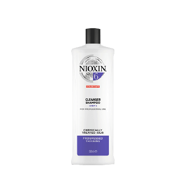Nioxin System 6 Cleanser Shampoo for Chemically Treated Hair with Progressed Thinning 1000ml