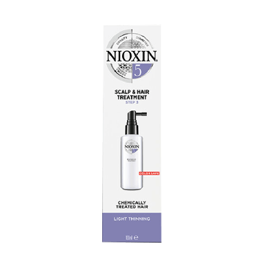 Nioxin System 5 Scalp & Hair Treatment for Chemically Treated Hair with Light Thinning 100ml