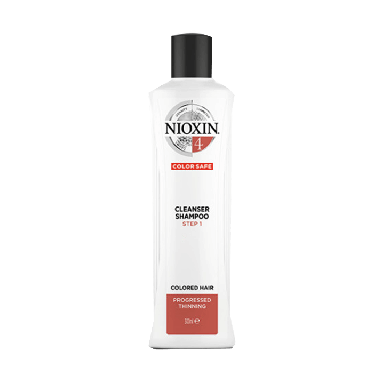 Nioxin System 4 Cleanser Shampoo for Colored Hair with Progressed Thinning 300ml