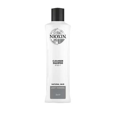 Nioxin System 1 Cleanser Shampoo for Natural Hair with Light Thinning 300ml