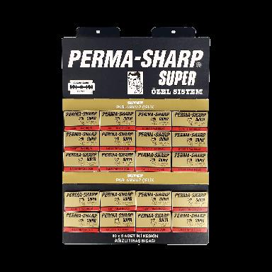 Perma-Sharp Super Double Edge Razor Blades (100 Blades)