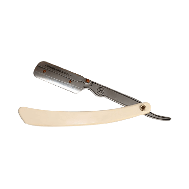 Parker 34R Stainless Steel Cut Throat Razor White (SRW)