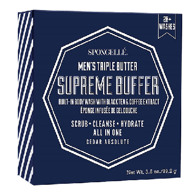 Spongelle Men's Triple Butter Supreme Buffer 99.2g