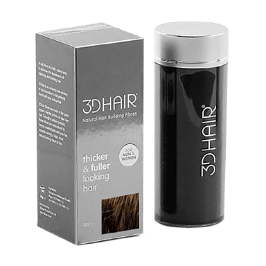 3DHair Natural Hair Building Fibres Dark Brown 10g